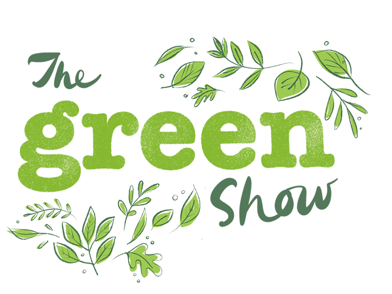 Green Show Logo green text foliage